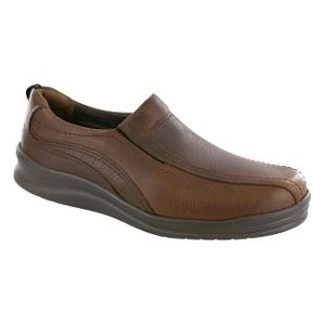 brown slip on men's shoe