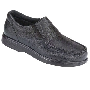 men's black slip on dress shoe