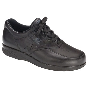 black lace up comfort shoe