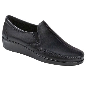 women's black comfort slip on shoe