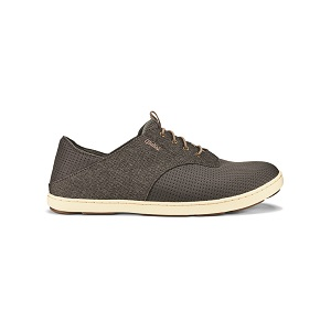 men's charcoal boat shoe