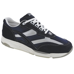 women's blue mesh active shoe