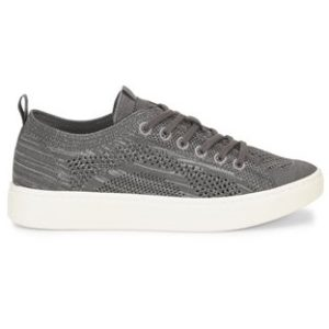 women's grey knit lace up sneaker