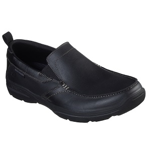 men's leather slip on - black