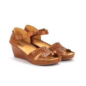 women's brandy leather wedge dress sandal