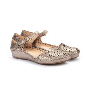 metallic leather low wedge mary jane