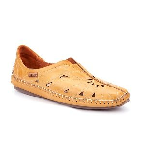 women's honey leather moccasin
