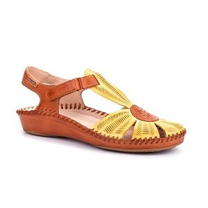 women's leather low wedge dress sandal