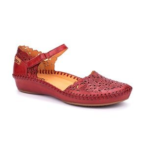 women's leather low wedge mary jane