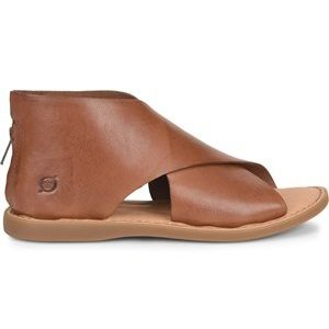 women's brown smooth leather sandal