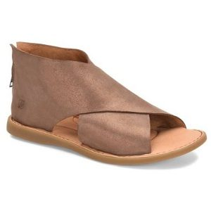 bronze leather sandal