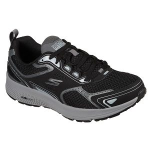 men's black grey running shoe