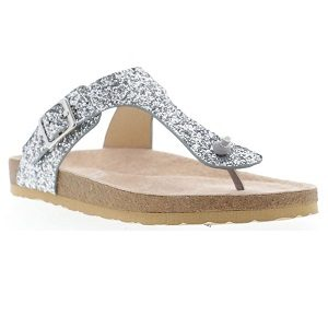 girls silver sparkle sandal