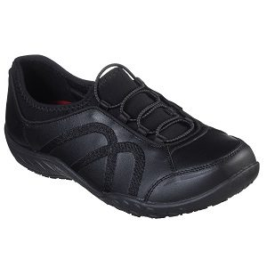 bungee laced women's slip resistant shoe