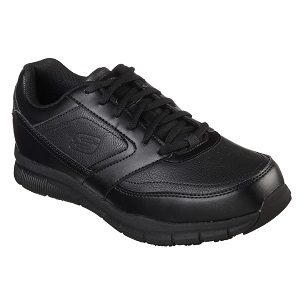 men's black lace up safety shoe