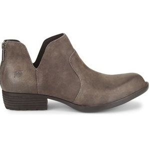 women's dark grey western ankle boot