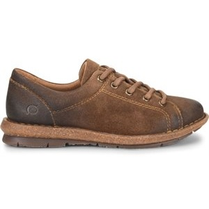 women's rust distressed suede leather sneaker