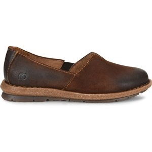 women's leather comfort slip on shoe