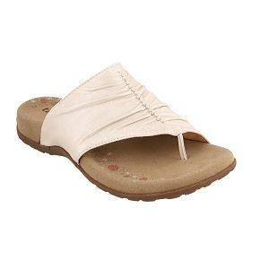 women's white pearl thong sandal