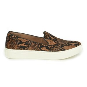 women's sneaker in Cognac python printed horse hair