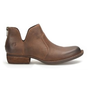 Women's brown leather bootie
