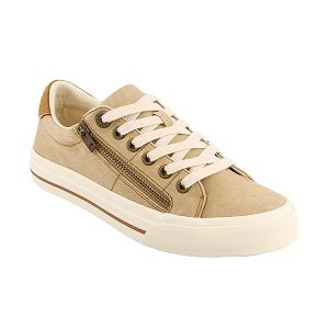 women's side zip and lace up sneaker