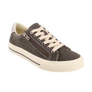 women's light grey side zip sneaker