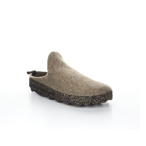 women's felt tweed clog with a cork sole