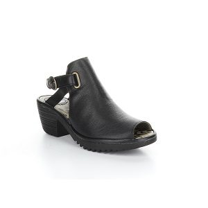 women's black peep toe sandal