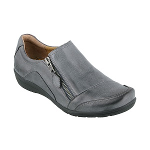 women's side zip comfort shoe in steel