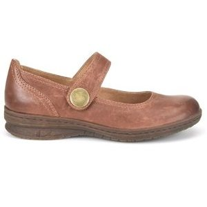 women's brown leather mary jane shoe