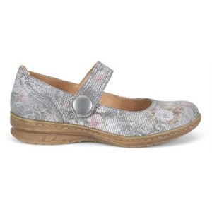 women's grey floral mary jane