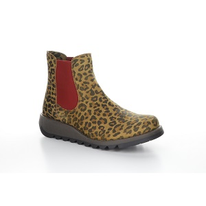 women's tan cheetah print boot