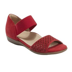 Ladies bright red sandal