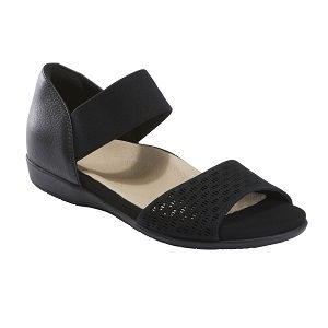 Ladies black comfort sandal