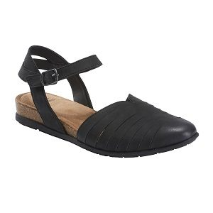 ladies black adjustable sandal