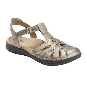 Ladies platinum sandal