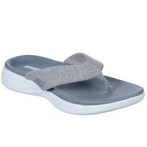 women's gray thong sandal