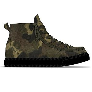 Kids camo high top sneaker