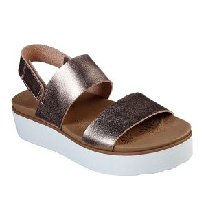 women's rose gold platform sandal