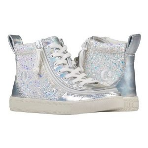 KIds High Top Metallic Glitter Sneaker