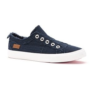 women's navy slip on sneaker
