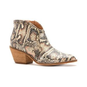 women's brown snake short boot