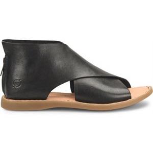women's full coverage black sandal