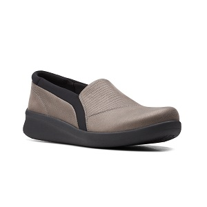women's dark pewter slip on comfort shoe