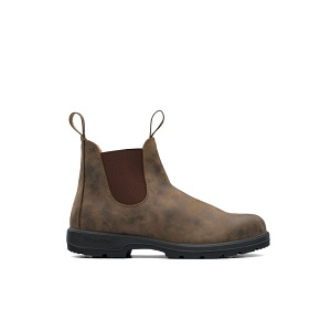 Women's rustic brown pull on boot