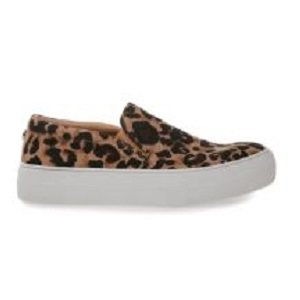 women's leopard print slip on fashion sneaker