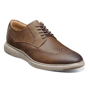 men's brown wing tip shoe