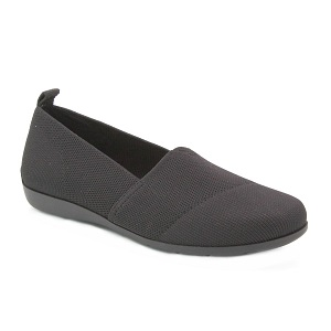 women's black slip on flat