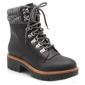 women's lace up ankle boot with lug sole